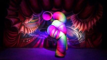 Gabriella & Vanessa 13, 9 ~ The Human Slinky