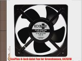 EcoPlus 8-Inch Axial Fan for Greenhouses 647CFM
