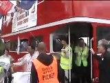 British Airways cabin crew on strike 2010 - march to Waterside (British Airways headquarters)