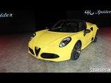 Alfa Romeo 4C Spider Design and Discussion: Detroit 2015