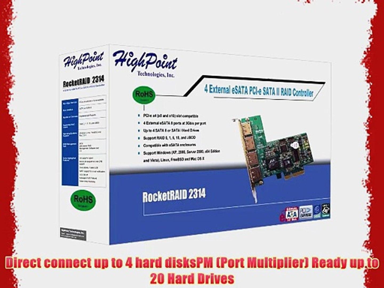HighPoint RocketRAID 2314 4-Channel PCI-Express x4 eSATA 3Gb//s RAID Controller