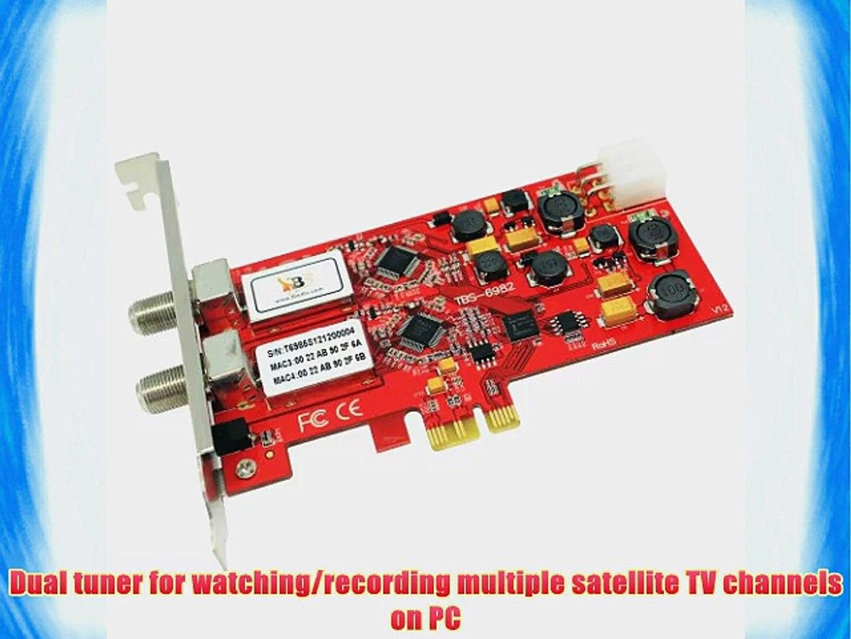DVBSky T982 V2 PCIe Karte Low Profile mit 2x DVB-T2//DVB-C Tuner Dual Twin Tuner