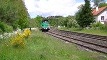 LE MAUZIN arrive à PONTGIBAUD, PUY-DE-DÔME, ligne CLERMONT-FD à TULLE, le 20 MAI 2015.