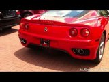 Ferrari 360 Modena Acceleration, Revs, Start-ups!