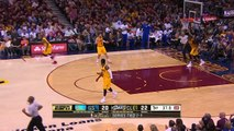 Festus Ezeli Block Matthew Dellavedova _ Warriors vs Cavaliers _ Game 3 _ June 9, 2015 _ NBA Finals