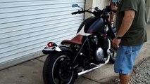 Kawasaki Vulcan 800 bobber and cobra pipes - video dailymotion