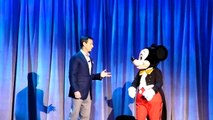 Disney D23 Expo   Tom Staggs, Chairman of Walt Disney Parks & Resorts chats with Mickey