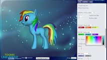 My Little Pony Friendship is Magic Rainbow Dash 3D Pony Creator Game for Children HD
