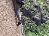 Meneo Canario, 8c  rock climbing route gran canaria