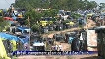 Campement géant de SDF à Sao Paulo