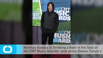 Norman Reedus Is Drinking a Beer in His Seat at the CMT Music Awards--and Jenna Dewan Tatum's Lovin' It!