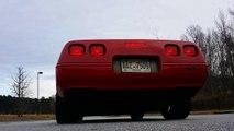 1992 C4 Corvette burnout