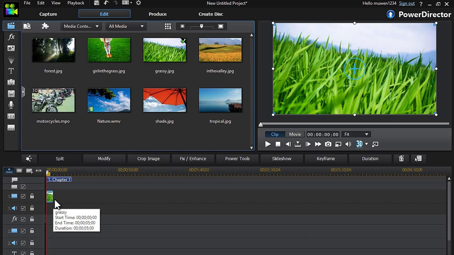 How To Add Motion to a Still Image in PowerDirector 12 (Magic Motion Tool)