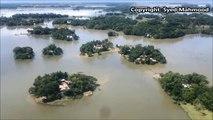 Landing at Sylhet Osmani Airport Beautiful Bangladesh aerial view Novo Air SYED