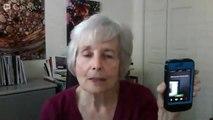 Testing Google Hangout Live Stream - Sheila on Mac with Sheila on iPhone