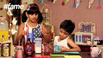 #Fame Food - How to Make Milkshakes For Kids | Kid's Kitchen | Karma And Vivaan