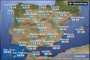 Previsión del tiempo para este jueves 11 de junio