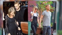 Taylor Swift Smiley After Sharing Instagram Snap With Boyfriend Calvin Harris