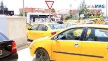 Jeudi 11 juin 2015 : Grève des chauffeurs de Taxis devant le ministère des transports