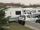 Des gens du voyage s'installent sur un parking d'Athis-Mons