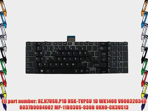 TOSHIBA Satellite C55-A5300 C55-A5245 C55D-A5240 Laptop KEYBOARD