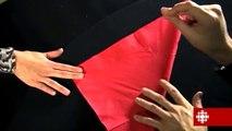 Tour de magie - Le crayon au travers de la serviette