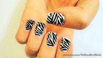 Tırnak Süsleme Sanatı - Kolay Zebra Oje Deseni