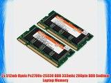 2x 512mb Hynix Pc2700s-25330 DDR 333mhz 200pin DDR Sodimm Laptop Memory