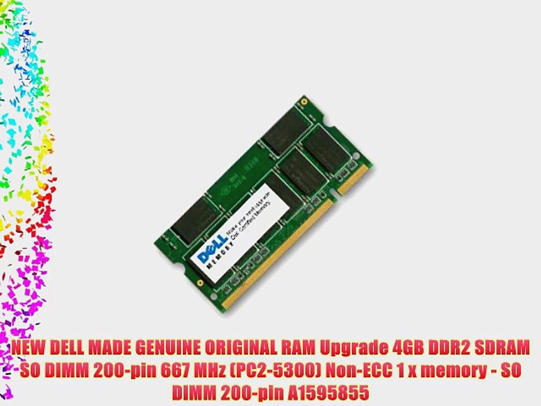 NEW DELL MADE GENUINE ORIGINAL RAM Upgrade 4GB DDR2 SDRAM SO DIMM 200-pin 667 MHz (PC2-5300)