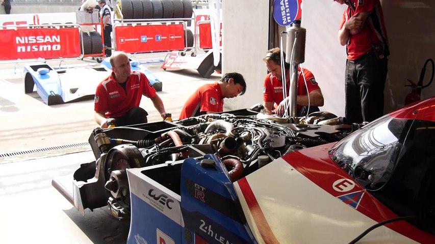 24 Heures du Mans - Inside the Nissan box !