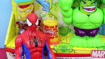 Play Doh Toys NEW HULK Smashdown Marvel Spiderman Iron Man Can Heads Playdough Disney Cartoon Toys