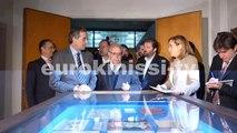 Ο Αντώνης Σαμαράς στα εγκαίνια της έκθεσης της ΕΣΗΕΑ για τα 100 χρόνια του σωματείου