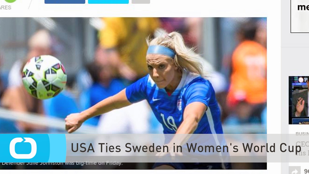 USA Ties Sweden in Women's World Cup