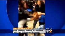Four Teens Arrested, Fifth In Custody For McDonald's Brawl
