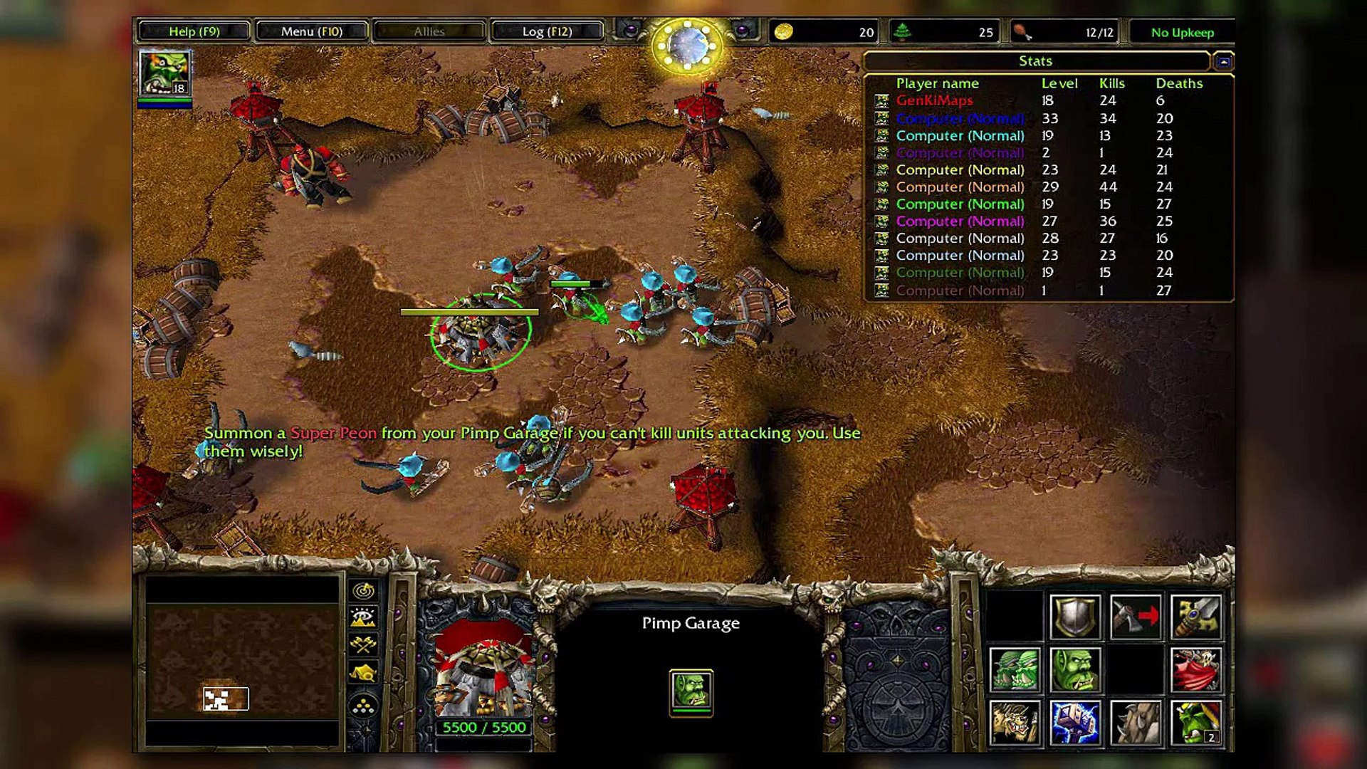 Pimp My Peon V6 3 Ai With Ai Warcraft 3 Map Video Dailymotion