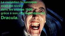 Il avait été Dracula et Saroumane: Christopher Lee est mort