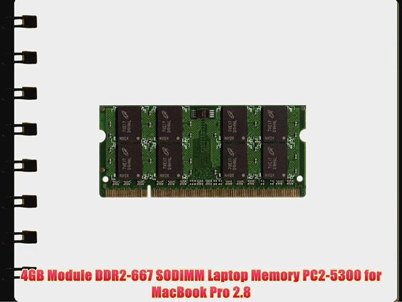 4GB Module DDR2-667 SODIMM Laptop Memory PC2-5300 for MacBook Pro 2.8