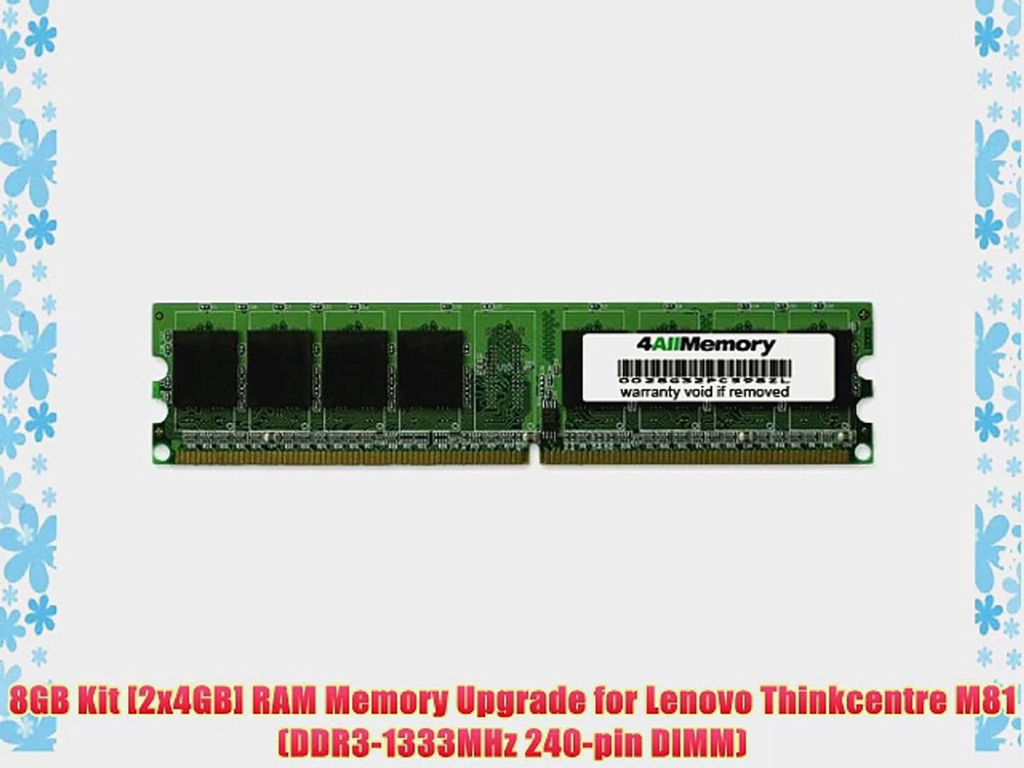 8GB Kit [2x4GB] RAM Memory Upgrade for Lenovo Thinkcentre M81 (DDR3-1333MHz  240-pin DIMM)