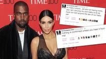 Kim Kardashian met fin aux rumeurs sur sa grossesse sur Twitter