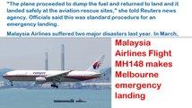 Malaysia Airlines Flight MH148 makes Melbourne emergency landing