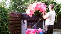 Ballondekoration, balloon lionheart, Ballon Löwenherz, balloon decoration, lion heart, Löwe Herz