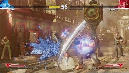 Street Fighter V (PS4) - Chun-Li x Ryu - Gameplay de Street Fighter V