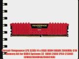 Corsair Vengeance LPX 32GB (4 x 8GB) DDR4 DRAM 2666MHz C16 memory kit for DDR4 Systems 32