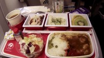 Airline food video! What I ate on 3 very different airlines in Japan.
