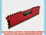 Corsair Vengeance LPX 16GB (4 x 4GB) DDR4 DRAM 2133MHz C13 memory kit for DDR4 Systems (CMK16GX4M4A2133C13R)