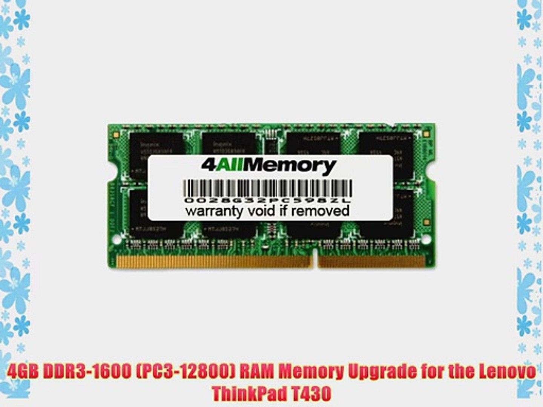4GB Memory Module PC3-12800 DDR3-1600MHz for Lenovo ThinkPad X240