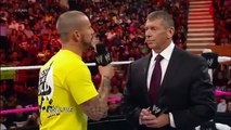 WWE Raw 10/8/12 - CM Punk & Mr. McMahon Segment [CM Punk Slaps Mr. McMahon]