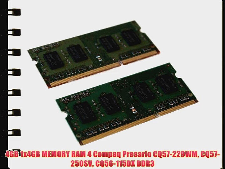 4GB MEMORY MODULE FOR Compaq Presario CQ56-219WM