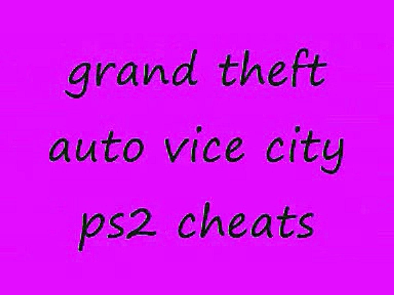 ps2 gta vice city cheats