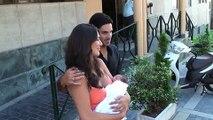 Lorena Bernal y Mikel Arteta con su hijo Mikel
